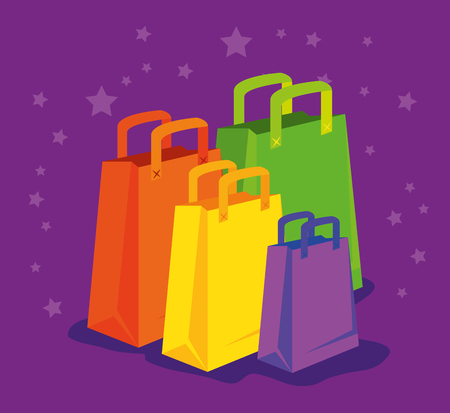 market sale bags to special primotion vector illustration Stock Photo