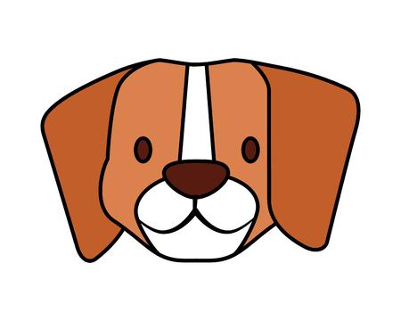 beagle dog pet on white background vector illustration Иллюстрация