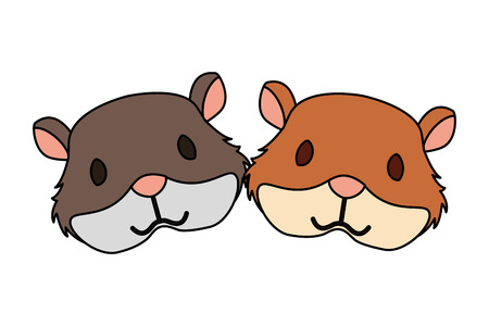 hamsters rodent on white background vector illustration Illustration