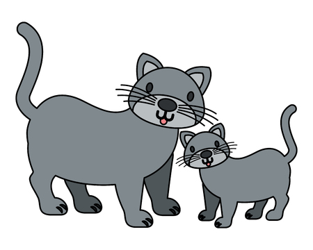 cats pet on white background vector illustration Stock Vector - 112115972