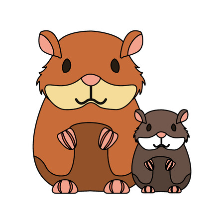 hamsters rodent on white background vector illustration Stock Vector - 127683179