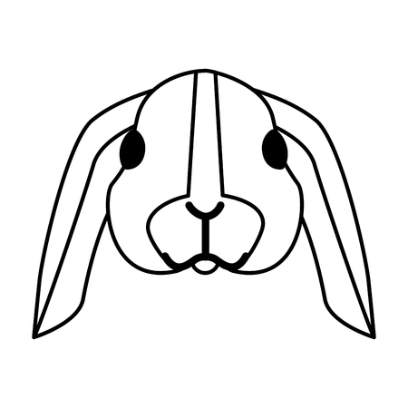 cute rabbit on white background vector illustration Ilustração