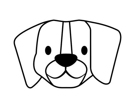 beagle dog pet on white background vector illustration Illustration