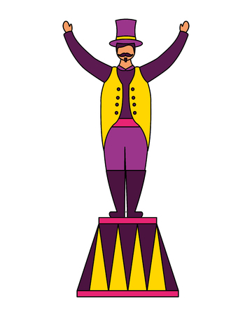 host man character circus fun fair vector illustration Illustration