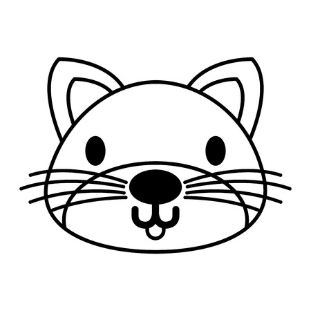 cat pet on white background vector illustration Illustration
