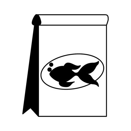pet shop fish food package vector illustration
