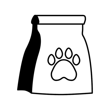 pet shop package paw on white background vector illustration Illustration