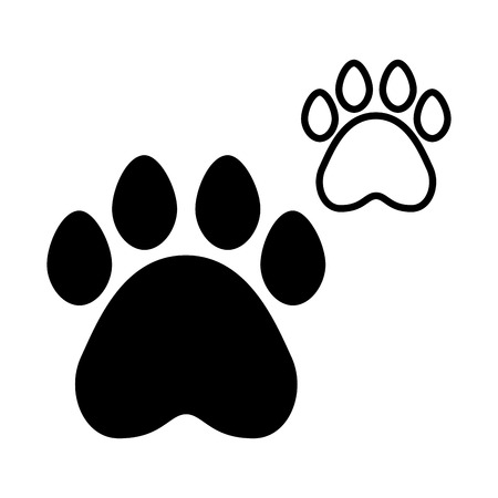 paws pet on white background vector illustration