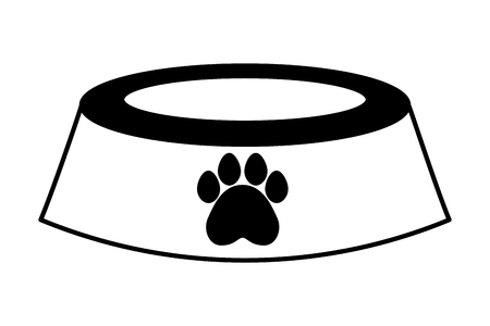 pet shop bowl on white background vector illustration 向量圖像