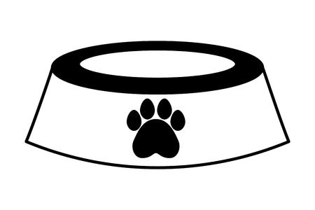 pet shop bowl on white background vector illustration Illustration