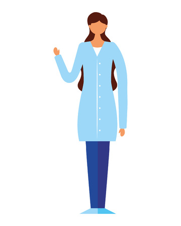 doctor woman on white background vector illustration