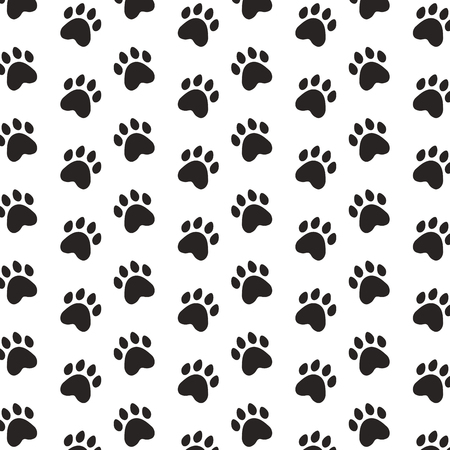 black paws pet background pattern vector illustration
