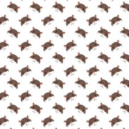 süße Hamsterköpfe Dekoration Muster Vektor-Illustration Vektorgrafik