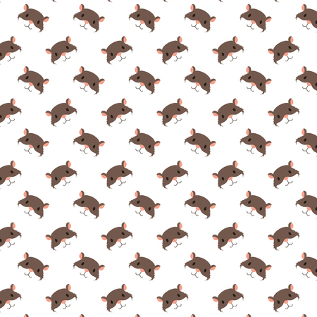 cute hamster heads decoration pattern vector illustration Illustration