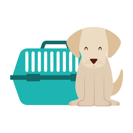 cute dog and pet cage vector illustration Zdjęcie Seryjne - 127685375