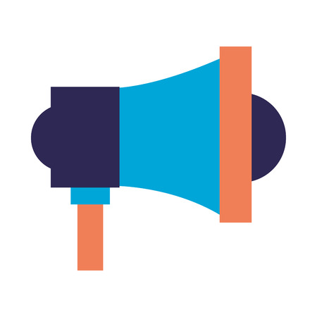 megaphone speaker on white background vector illustration