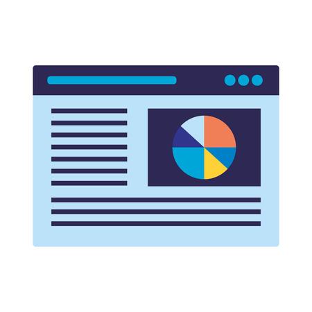 page report chart search engine optimization vector illustration Иллюстрация