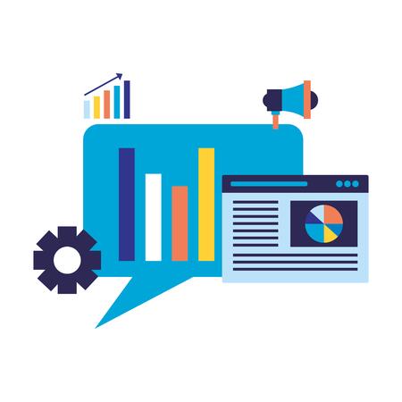 website diagram marketing search engine optimization vector illustration