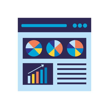 website diagram statistics search engine optimization vector illustration Illustration