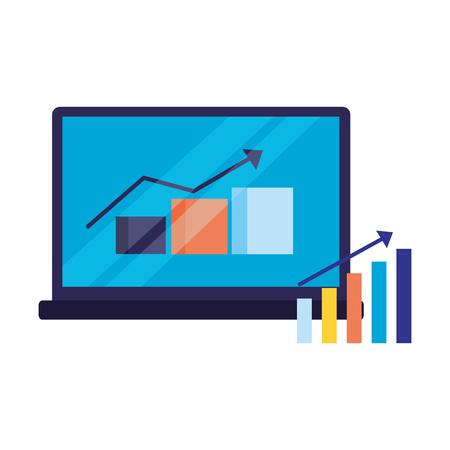 mobile statistics report search engine optimization vector illustration