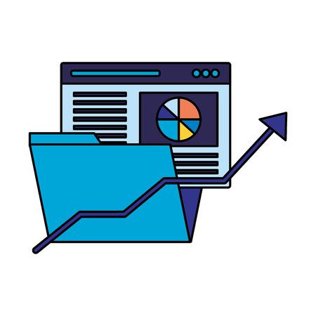 website folder file arrow search engine optimization vector illustration