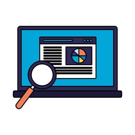 mobile analysis web search engine optimization vector illustration
