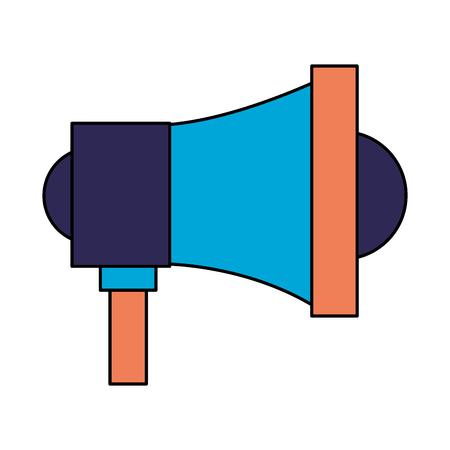 megaphone speaker on white background vector illustration