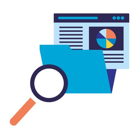 folder report business analysis search engine optimization vector illustration