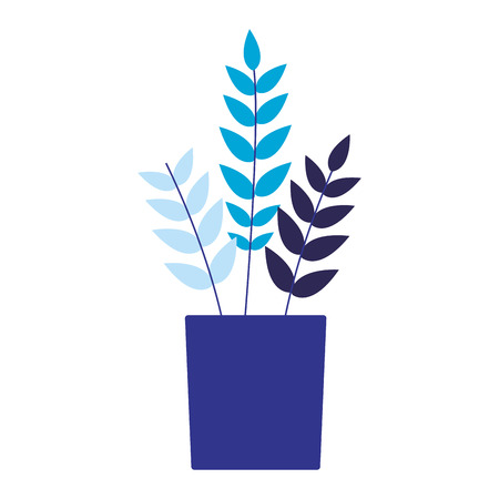 potted plant on white background vector illustration