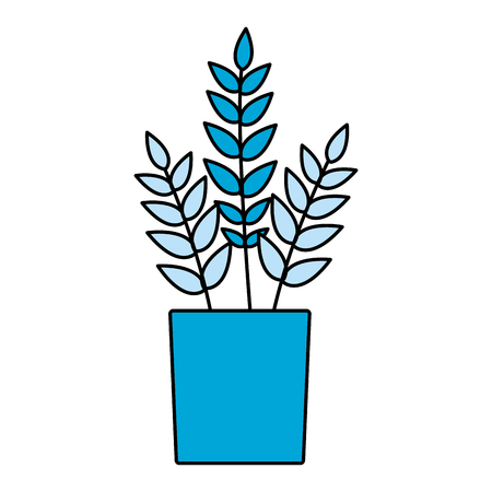potted plant on white background vector illustration Banque d'images - 127685551