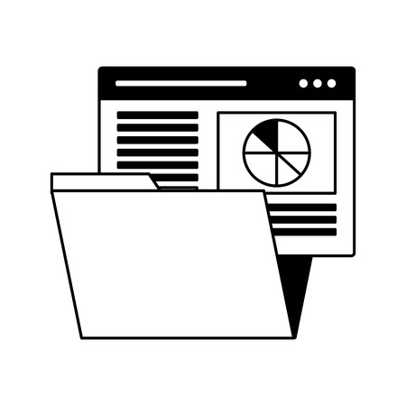 folder file document website search engine optimization vector illustration
