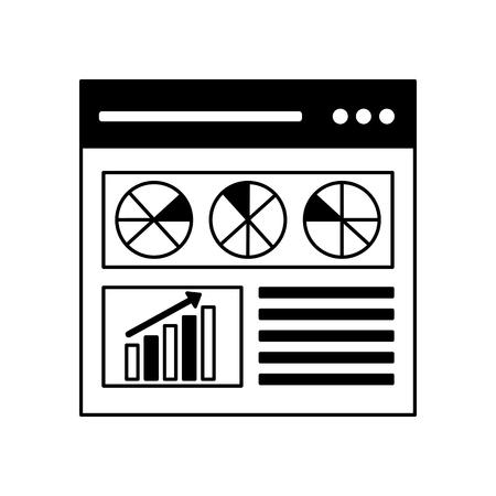 website diagram statistics search engine optimization vector illustration Иллюстрация