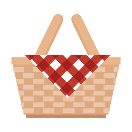 picnic basket isolated icon vector illustration design