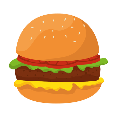 delicious burger fast food vector illustration design Ilustracja