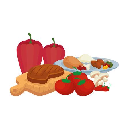 delicious bbq food icons vector illustration design Foto de archivo - 127638216