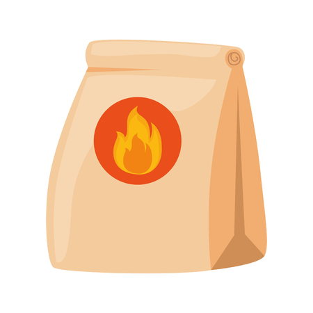 fast food paper bag with flame vector illustration design Reklamní fotografie - 112145865