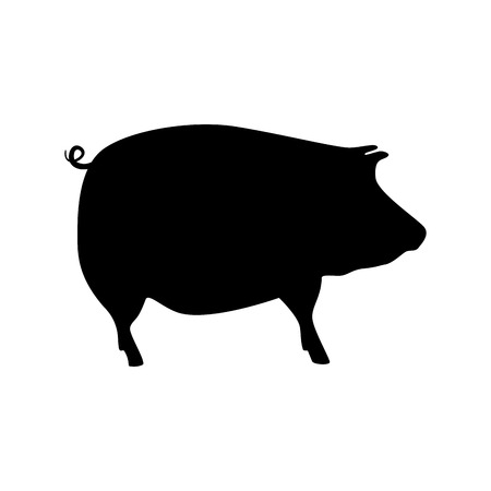 pork silhouette isolated icon vector illustration design Illustration
