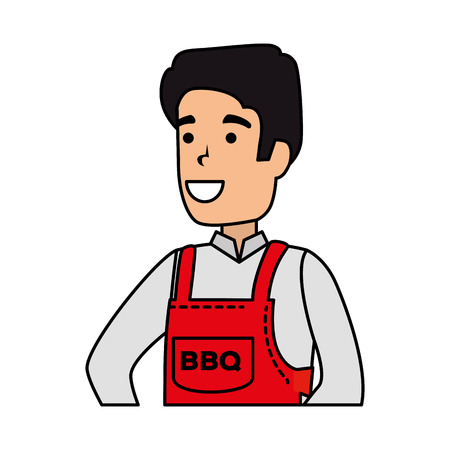 man with bbq apron character vector illustration design Фото со стока - 127638274