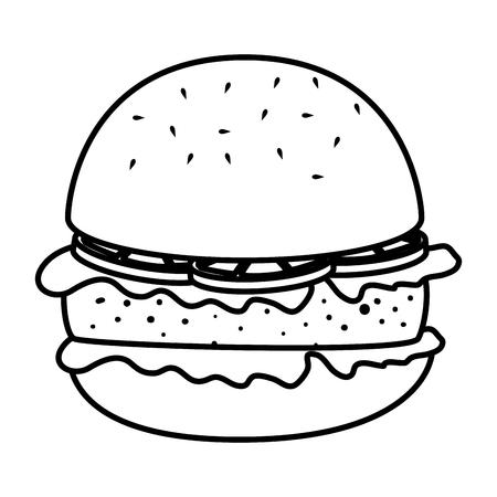 delicious burger fast food vector illustration design Ilustração