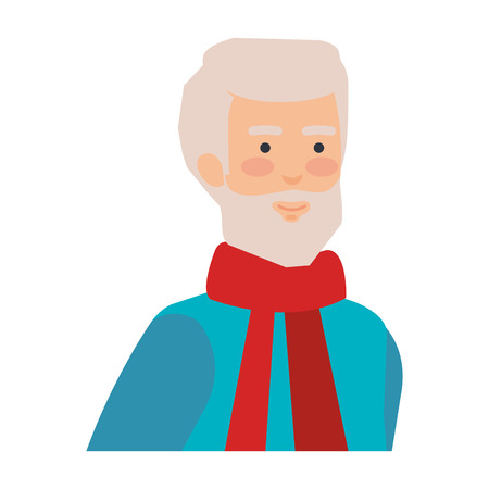old man with beard avatar character vector illustration design Фото со стока - 127638408