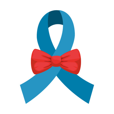 elegant bowtie accessory with ribbon vector illustration design