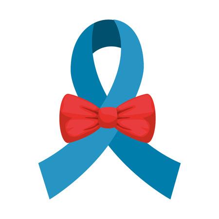 elegant bowtie accessory with ribbon vector illustration design