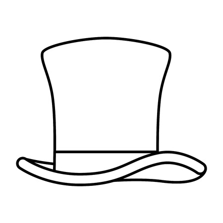 gentleman top hat icon vector illustration design