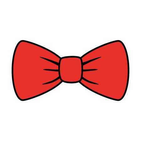 elegant bowtie accessory icon vector illustration design