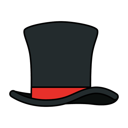gentleman top hat icon vector illustration design Banco de Imagens - 127641407