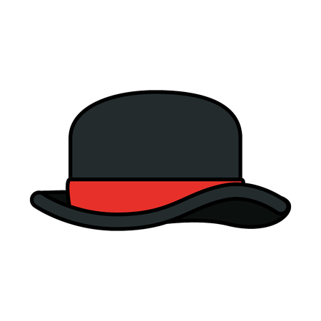 gentleman top hat icon vector illustration design Archivio Fotografico - 127641409