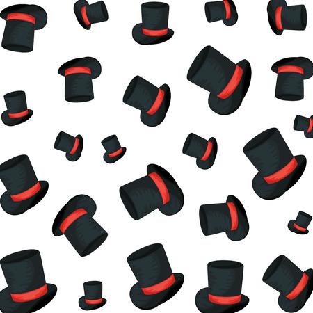 gentleman top hat pattern background vector illustration design Illustration