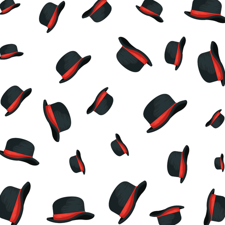 gentleman top hat pattern background vector illustration design Ilustração