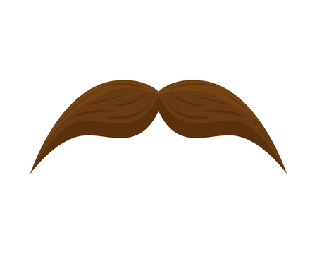mustache style hipster accessory vector illustration design