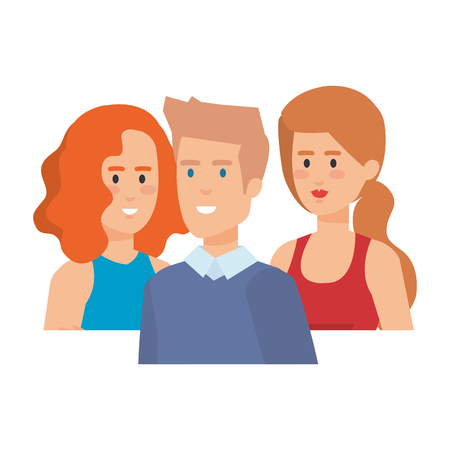 group of people characters vector illustration design 版權商用圖片 - 127641498